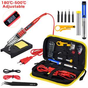 JCD Soldering iron kit (adjustable temperature) 220V 80W £13.88 Delivered @ AliExpress Deals / JCD Official Store