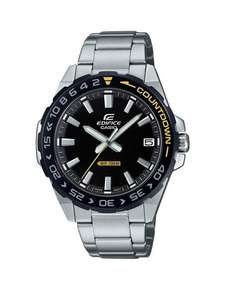 Casio EXCLUSIVE Casio Edifice Black and Yellow Detail Dial Stainless Steel Bracelet Mens Watch - £55.20 + free Click and Collect @ Very