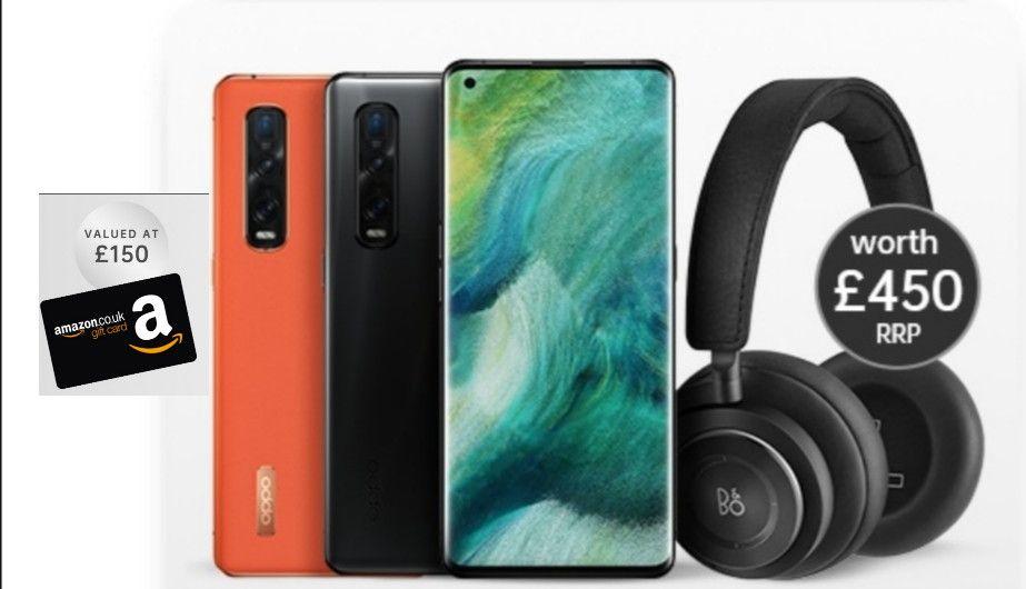 OPPO Find X2 Pro 5G 512GB Smartphone + B&O H9 Headphones + £150 Amazon Gift Card - £929.57 @ O2 Refresh