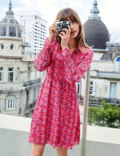 Evangeline Dress-Bright Camellia, Garden Charm £44 @ Boden