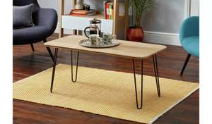 Klark Hairpin Coffee Table - Light Wood OR Dark Wood Effect now £45 / Hairpin End Table Light wood OR Dark wood effect now £35 @ Argos