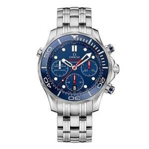OMEGA Seamaster Diver 300m Automatic Chronograph Men's Watch In 41 or 44mm £3160 using code at Beaverbrooks