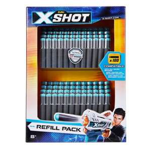 X-Shot Excel Universally Compatible Foam Darts Refill Pack (100 Darts) now £4.99 @ ASDA (Gateshead)