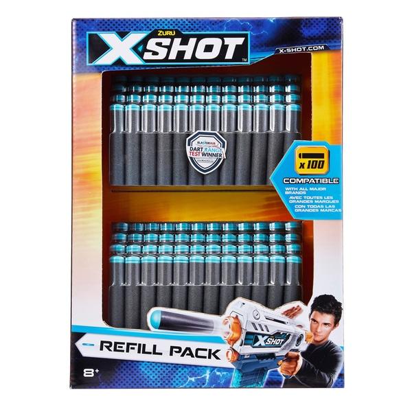 Zuru X-Shot Excel Universally Compatible Foam Darts Refill Pack - 100 darts - £5 in store only @ Asda, Gateshead