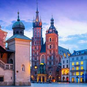 2 Nights in Krakow Incl' return flights from London Stansted & Apartment stay in the Old Town £42.50p/p (£85 total) @ Booking.com / Ryanair