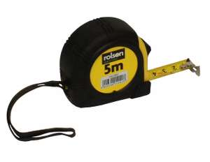Rolson 5 Metre Tape Measure for £1.50 at Halfords + free click and collect