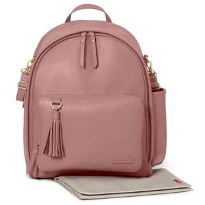Skip Hop Greenwich Simply Chic Backpack / Changing Bag and Mat - Dusty Rose £44.95 + £2.95 Delivery From Online4baby
