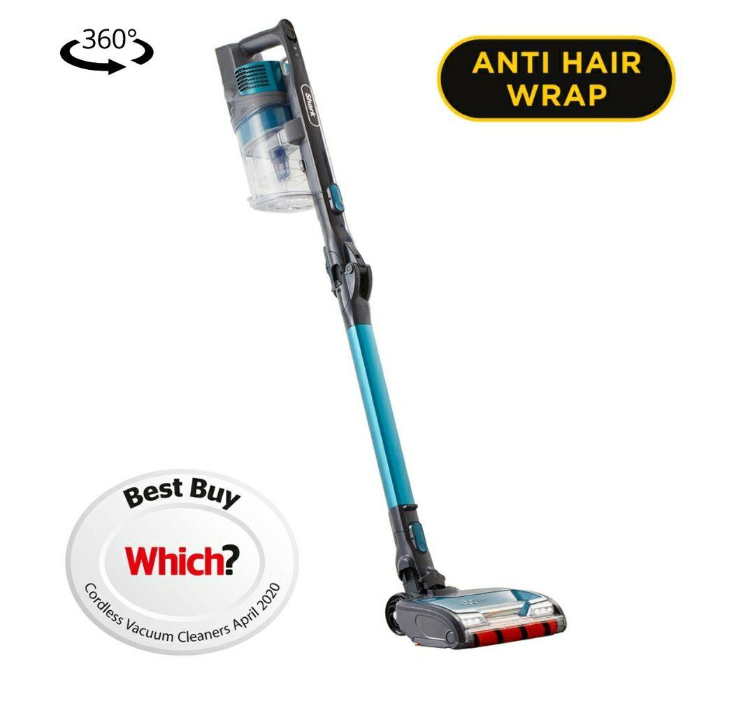 SharkAnti Hair Wrap Cordless Stick Vacuum Cleaner with Flexology and TruePet [Single Battery] IZ201UKT2 - £259.99 @ Shark