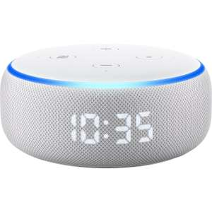 Amazon Echo Dot with Clock £34 delivered (free nominated delivery date) @ ao.com