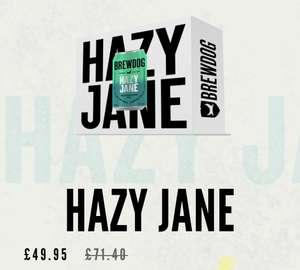 Hazy Jane IPA 48 cans for £49.95 delivered, reduced from £71.40 @ Brewdog