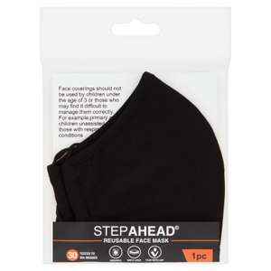 Step Ahead Reusable Face Mask £2 for 1 or 3 for £5 at Iceland