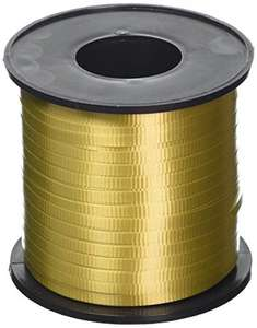 457 meters (500 yards) of Gold Curling Ribbon - £3.59 (+£4.49 non-prime) @ Amazon