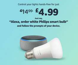 Philips Hue White £4.99 for new Echo owners @ Amazon - Prime Exclusive