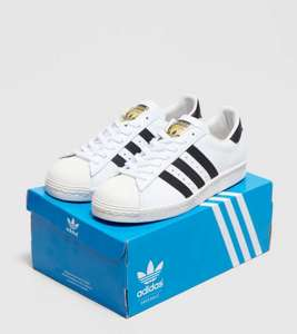 Adidas Originals Superstar 80s white with black stripe £27.99 delivered @ Size?