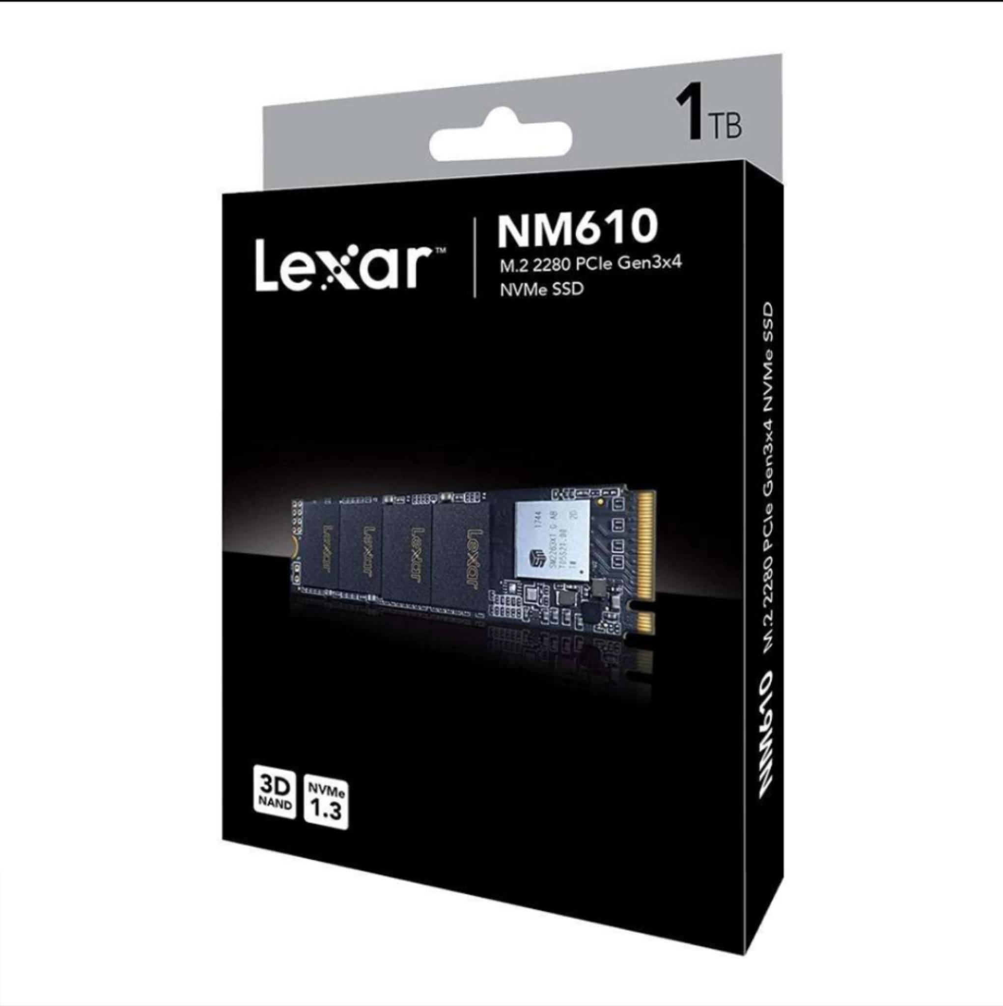 Lexar NM610 1TB M2 2280 NVMe 3D SSD/Solid State Drive £104.99 @ 7dayshop