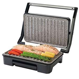 Salter EK2009 Marble Collection Health Grill, Panini Grill and Sandwich Press, Stainless Steel 750W - £22.96 @ Amazon