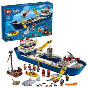 LEGO 60266 City Ocean Exploration Ship Floating Toy Boat, Deep Sea Underwater Set, Diving Adventure for Kids - £105.41 at Amazon