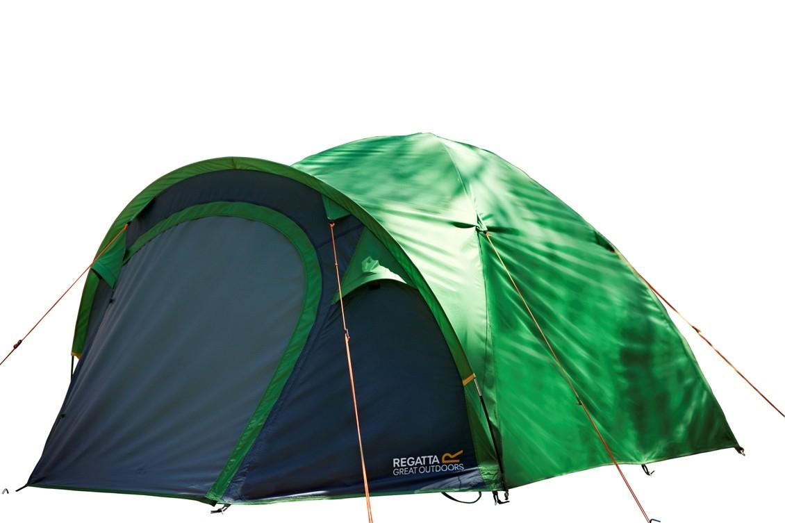 Regatta Kivu 3 Man Dome Tent V2 Extreme Green/Seal Grey - 3000HH Fast Pitch - £53.03 + £3.95 del at Wow Camping