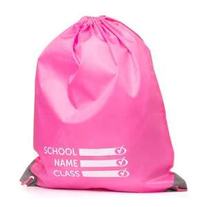 2 x Pink Plimsoll Bag with Reflective Panels - 2 for £2.99 - Free Delivery @ Shoe Zone