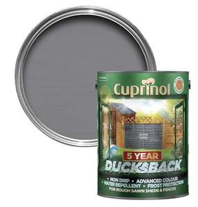 Cuprinol Ducksback 5L Silver Copse - £9.99 instore and online (free Click and Collect) @ The Range