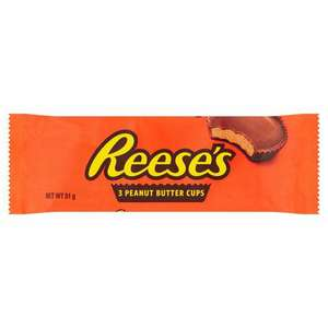 3 packs of Reese's peanut butter cups 3 pack 51g £1.20 @ Tesco