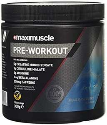 MAXIMUSCLE Pre-Workout Blue Raspberry Flavour 300 g Open Box - Very Good £13.52 @ Amazon warehouse