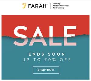 Up to 70% off sale at Farah (£2.95 shipping or free on orders over £50)