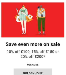 Zalando last day of sale, £10 off £100 spend, £15 off £150, and £20 off £200