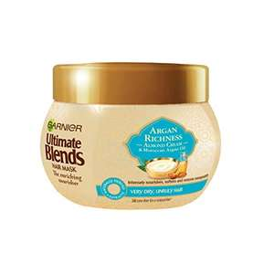 Garnier Ultimate Blends Argan Oil and Almond Hair Treatment Mask, 300ml £2.49 (+£4.49 NP) Delivered @ Amazon