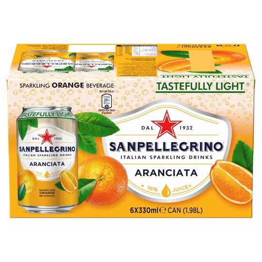 San Pellegrino 6 Pack Aranciata/Limonata £2.99 Home bargains cramlington & morpeth