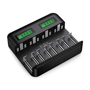 Universal Battery Charger for AA AAA C D Rechargeable Batteries Type C Sold by EBL Official and FBA £15.80 (Prime or + £3.49)