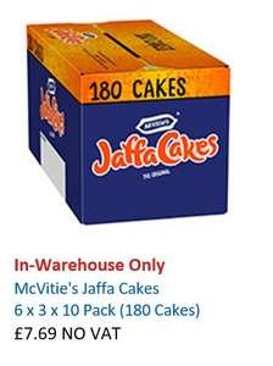 180 Jaffa Cakes for £7.69 at Costco (Instore)