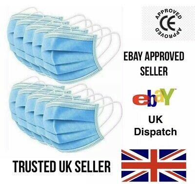 20 x Face Masks Surgical 3 Ply Dental Elastic Ear Loop Medical Disposable Mask - £4.94 @ eBay / wishbeauty