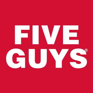 Five Guys - 50% off 'Eat Out to Help Out' - Bacon Cheese Burger £4.48 / Fries £2.25 + more (Monday - Wednesday in August)