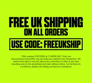 Kitbag Free UK Shipping Code Today ONLY