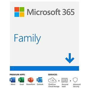 Microsoft 365 Family | Office 365 apps | up to 6 users | 1 year sub | Multiple PCs/Macs, Tablets and Phones | Download - £49.99 @ Amazon