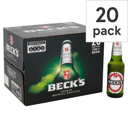 Beck's German Pilsner Beer Bottles 20 Pack £10 @ Asda