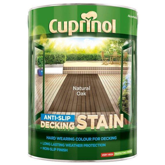 Cuprinol Anti-Slip Decking Stain Natural Oak 5L £28 instore @ B&M Leicester