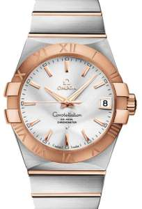 Omega Constellation Co-Axial Steel & Red Gold 38MM Watch - £3,672 @ Burrells