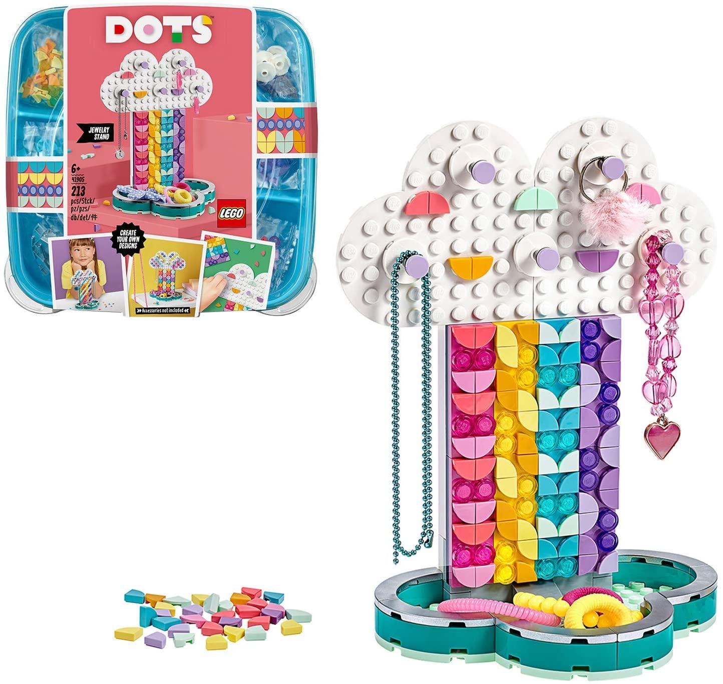 LEGO 41905 DOTS Rainbow Jewellery Stand DIY Desk Accessories Decorations Set for £7.98 (Prime) / £12.47 (Non Prime) delivered @ Amazon