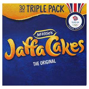 Mcvitie's Jaffa Cakes Triple Pack 30 Cakes £1.25 / Jaffa Cake Pineapple or Strawberry 10 Pack 50p @ Tesco