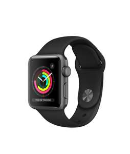 Apple Watch Series 3 (GPS, 38mm) - Space Grey Aluminum Case with Black Sport Band £179 at Amazon