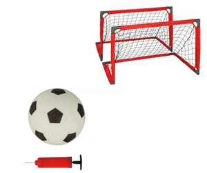 Opti Ball, Pump and 3 x 2ft 1 on 1 Football Goal - Set of 2 - £19.99 @ Argos (Click & Collect)