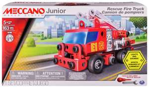 Meccano Junior Rescue Fire Engine Building Set £12.49 click and collect at Argos