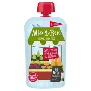 Mia & Ben Baby food 3 variants £1.50 at Sainsbury's (possible free with Checkoutsmart)