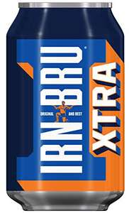 IRN-BRU Xtra No Sugar Fizzy Drink Cans, 330ml, (Pack of 24) £4 (Prime) £8.49 (Non Prime) @ Amazon