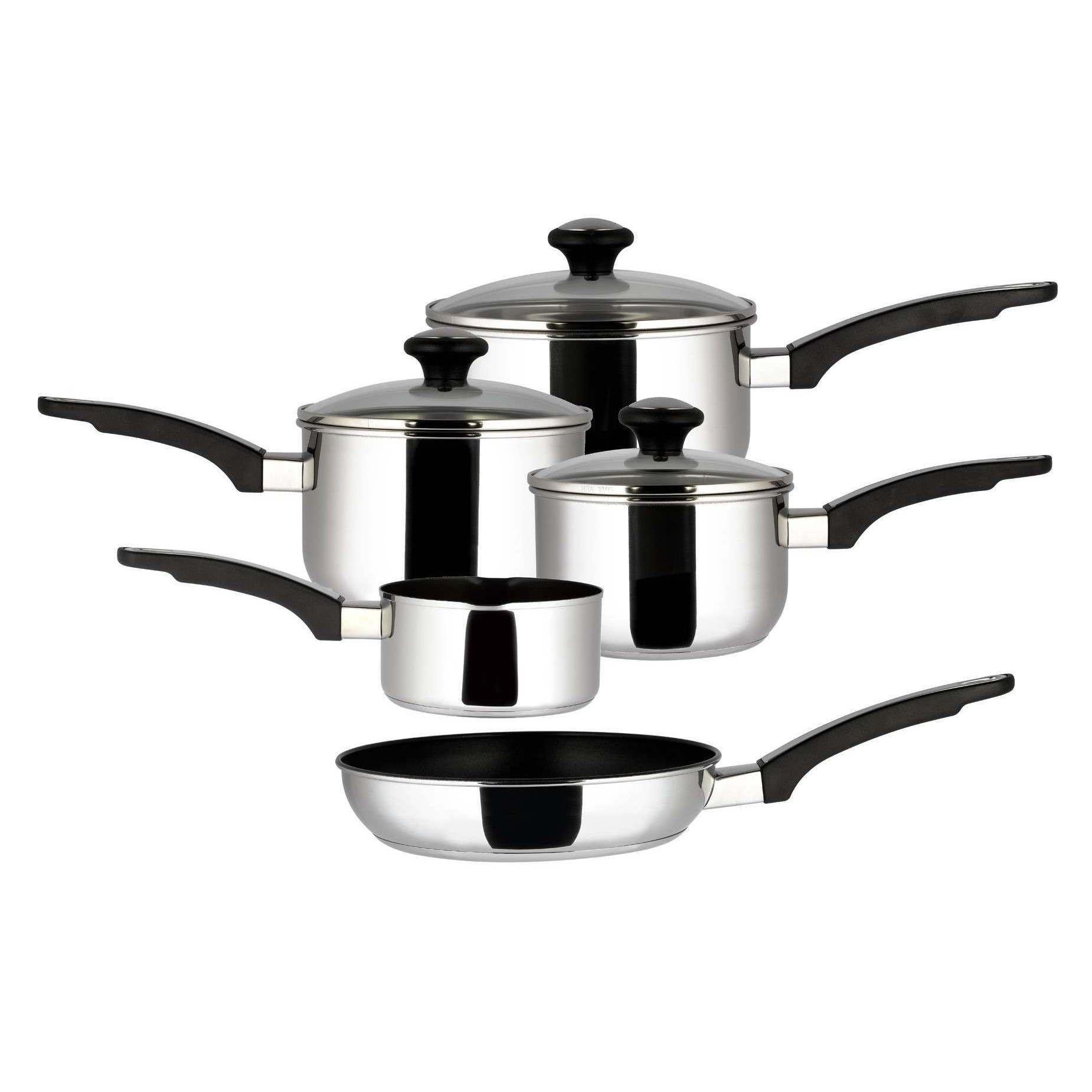 Prestige Everyday Stainless Steel Pan Set excellent reviews £53.09 @ Prestige
