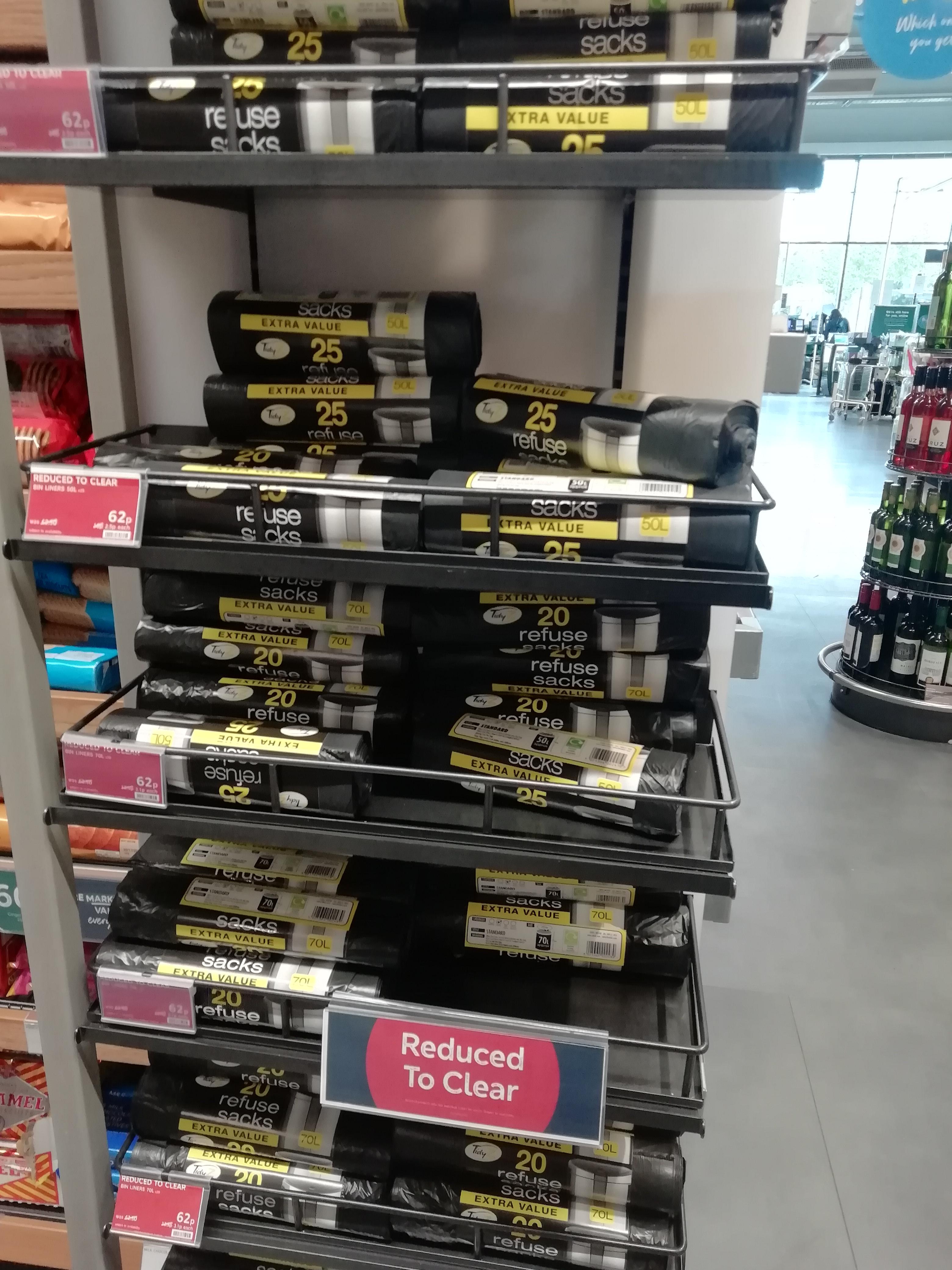 Refuse sacks 62p instore @ Marks and Spencer - Birmingham sellyoak