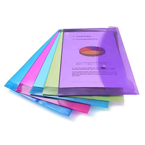 Rapesco 0688 A4/Foolscap Plastic Popper Wallet, Transparent Assorted Colours (Pack of 5) £2.52 Prime (+ £4.49 non Prime) at Amazon
