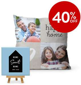 40% OFF HOME DECOR with code @ Snapfish UK